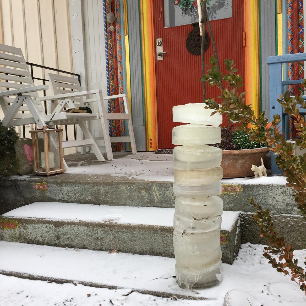 snö och en ispelare