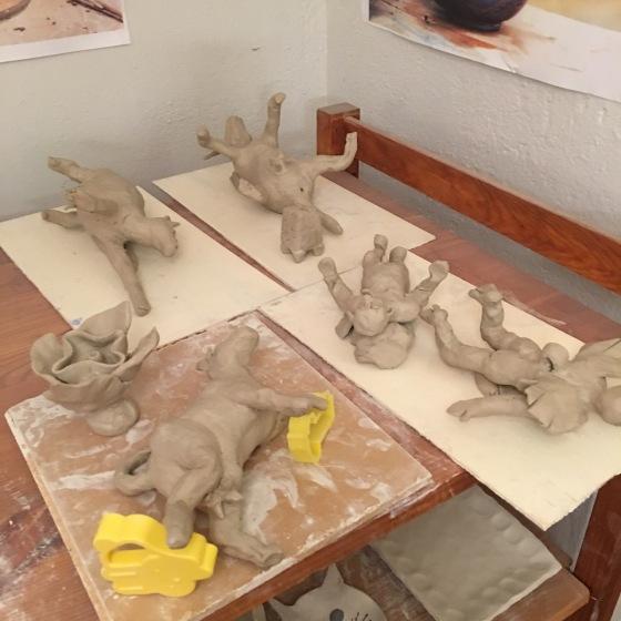 skulpturer på tork