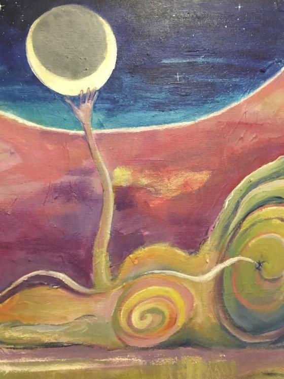 Omma o månen, detalj . Av Ganga