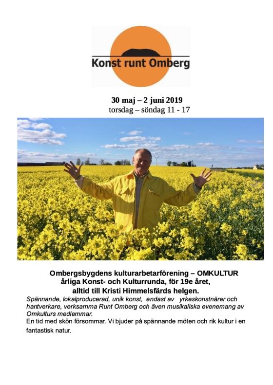 Konst runt Omberg, 2019