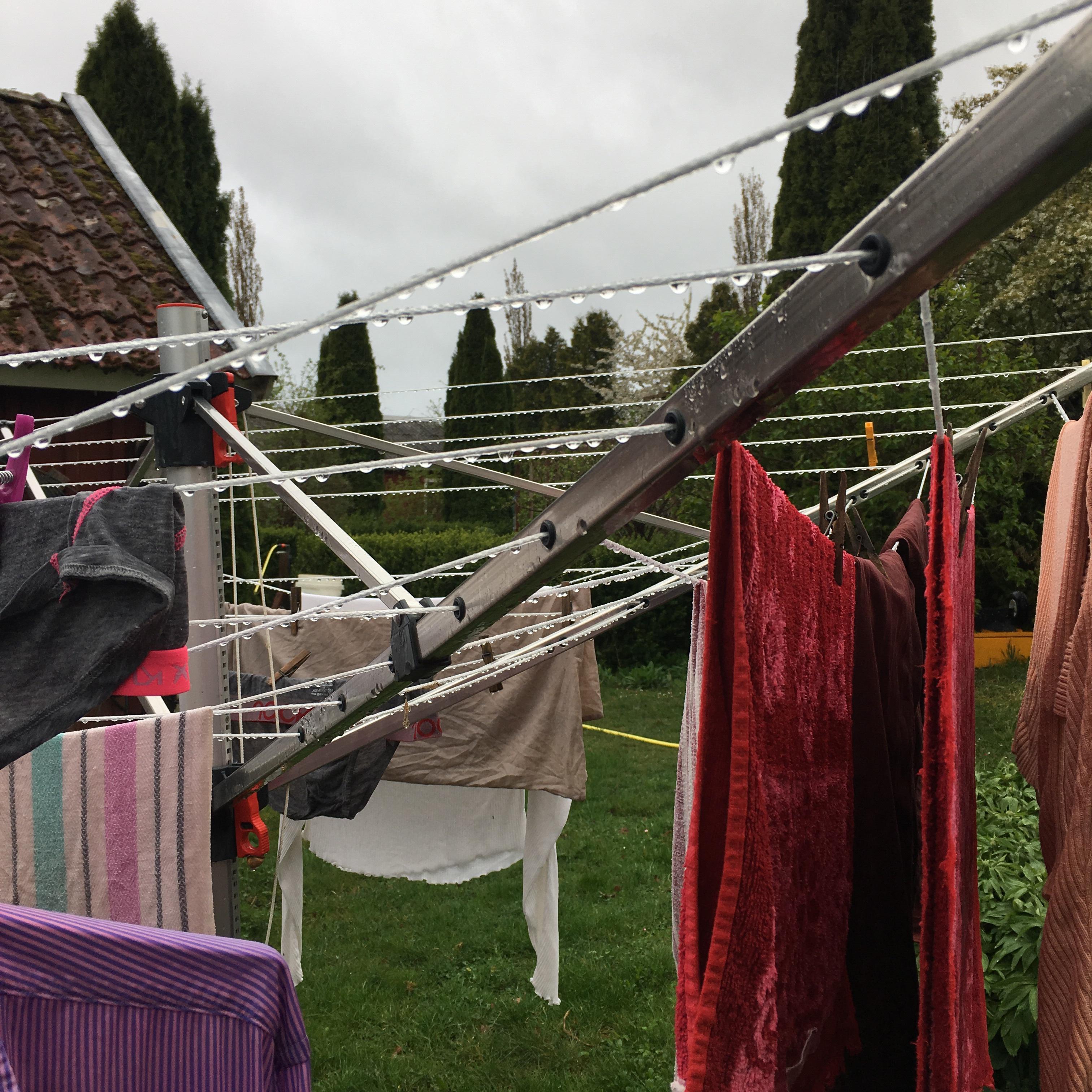 Tvätt i regn