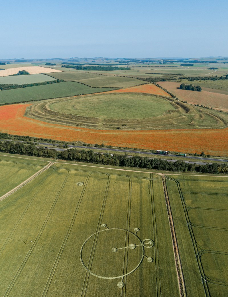 crop cirkle, England