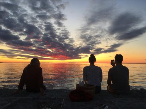 Solnedgång, Borghamn