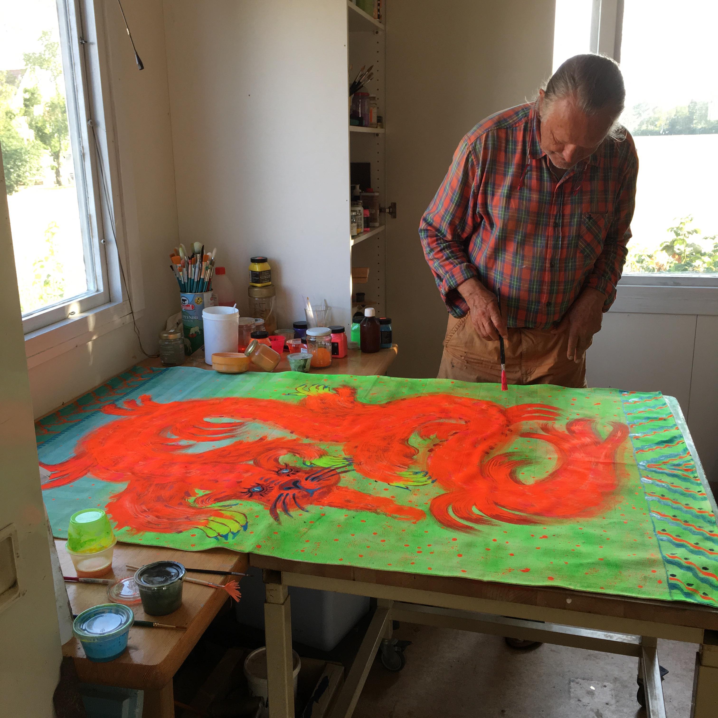 Rurik målar draken