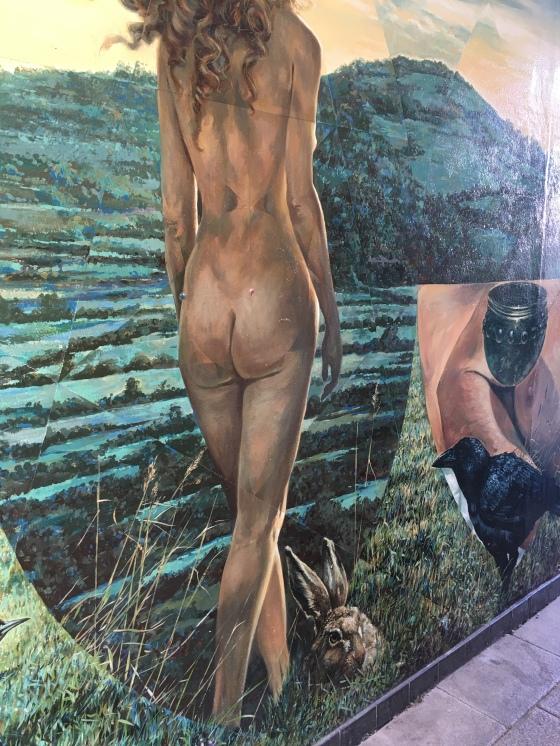 Väggmålning, natur
