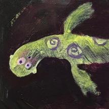 LITTLE SEAL/ WINING by Ganga acrylic on board