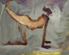 """""""Yoga pose"""" av Ganga acryl på board"""