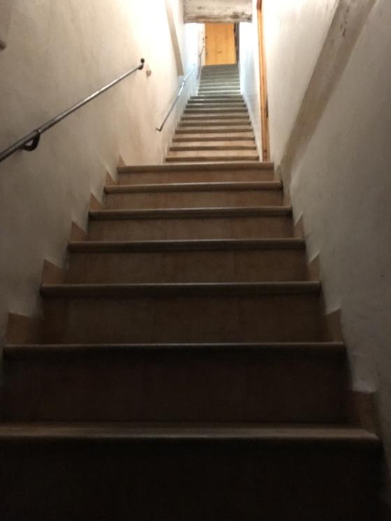 Fem våningars trappa