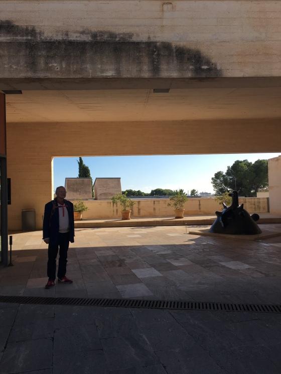 Rurik vid Miro museum, Mallorca