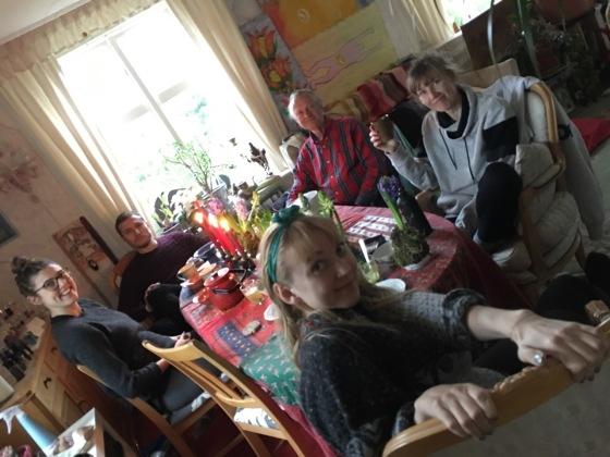 Julbord, hela familjen