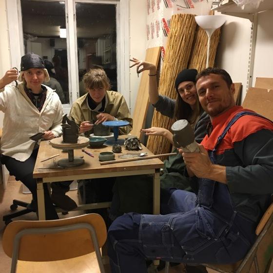 Jul i keramikverkstan