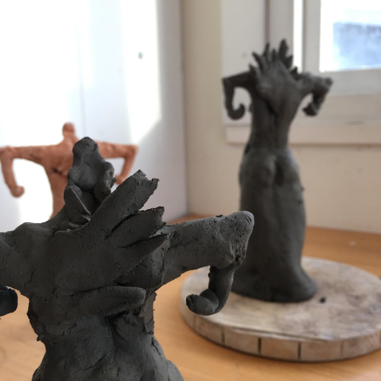 Keramik, Uterus pose, av Ganga