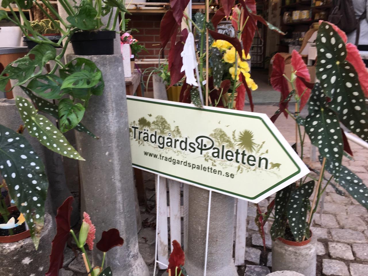 trädgårdspaletten, skylt