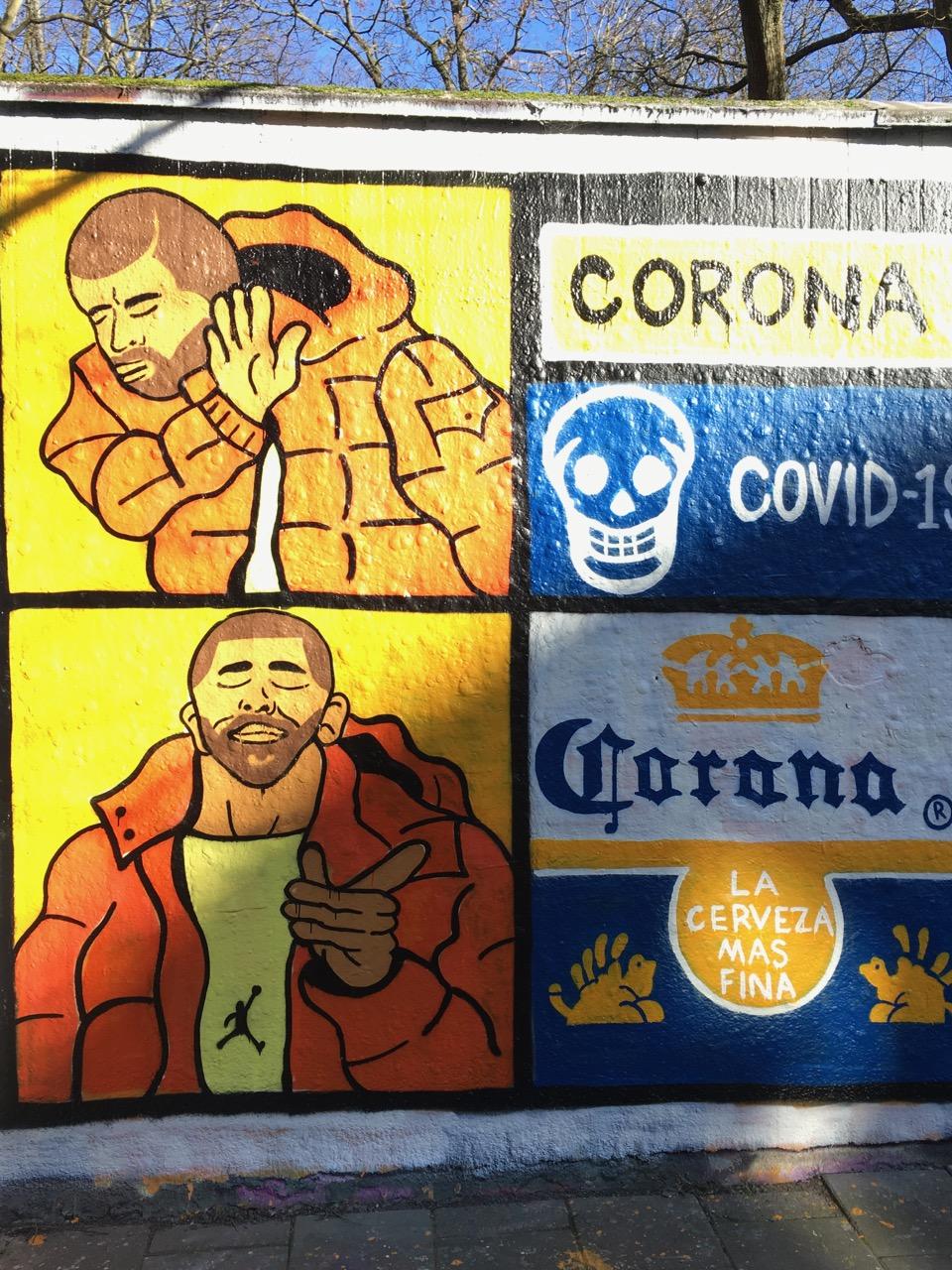 grafitti, corona